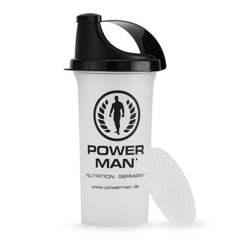 PowerMan Protein Shaker with Sieve - 0.7L