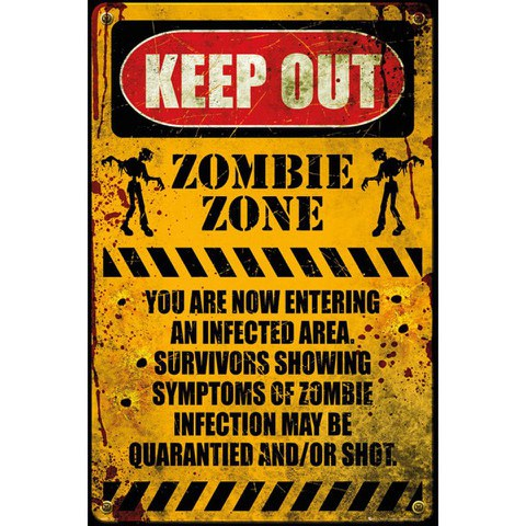 Zombie Keep Out - Maxi Poster - 61 x 91.5cm