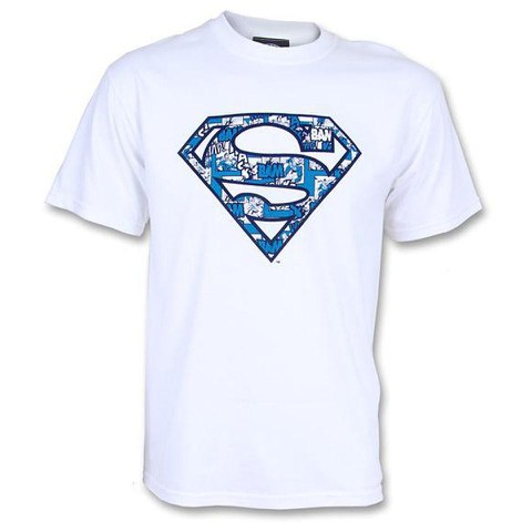 DC Comics Men's Superman Cosmic Logo T-Shirt - White