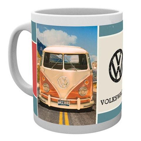 VW Camper Beetle Grid Mug