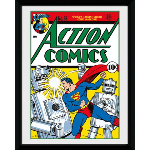 DC Comics Superman Comic - 8x6 Framed Photographic