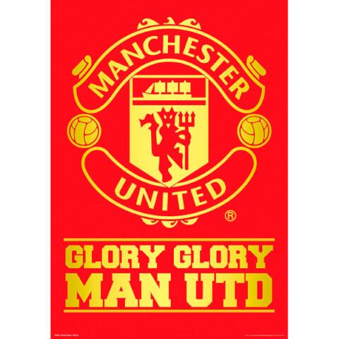 Manchester United Crest - Metallic Poster - 47 x 67cm
