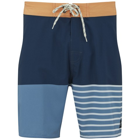 Rip Curl Men's Mirage Flash 18 Inch Boardshorts - Blue/Navy/Orange