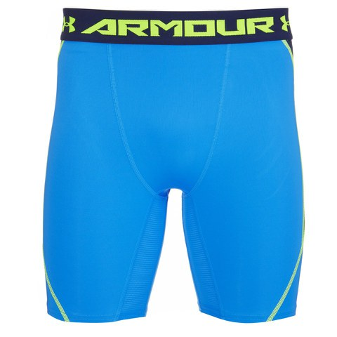 Under Armour Men's Armourvent Compression Training Shorts - Blue Jet/High-Vis Yellow