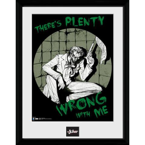 DC Comics Batman Comic Joker Plenty Wrong - Framed Photographic - 16 x 12inch
