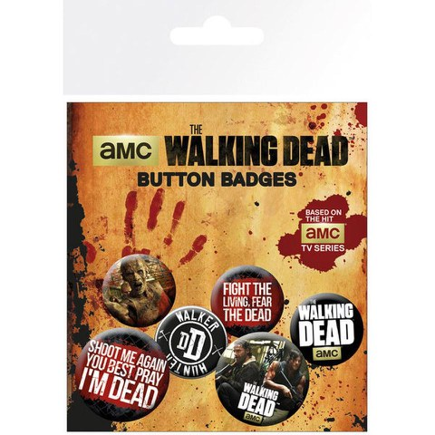 Lot de Badges Phrases Walking Dead