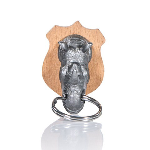 Rhino Animal Head Key Holder