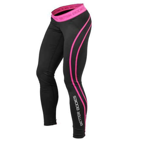 Better Bodies Athlete Tights - Black/Pink
