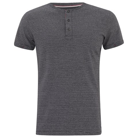 Produkt Men's OEK New Grandad Buttoned T-Shirt - Black