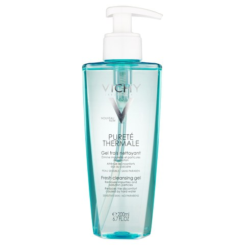Vichy Pureté Thermale Fresh Cleansing Gel Cleanser, Paraben-Free, Alcohol-Free, 6.76 Fluid Ounce