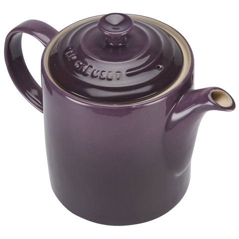 le creuset stoneware grand teapot 1 3l cassis iwoot. Black Bedroom Furniture Sets. Home Design Ideas