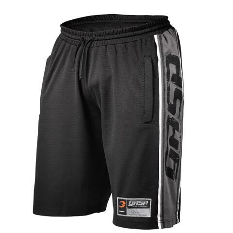 GASP Raw Mesh Shorts - Black/Grey