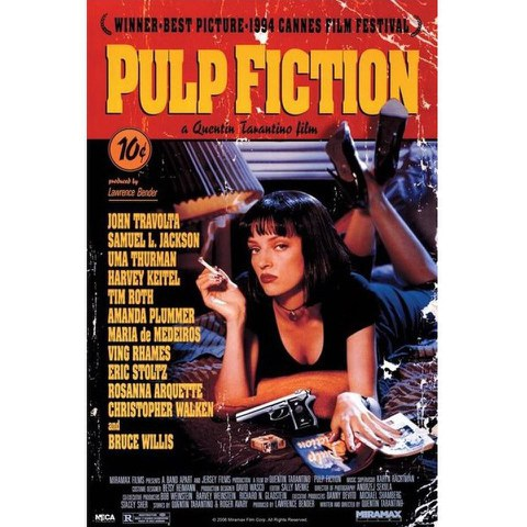 Pulp Fiction Cover - 24 x 36 Inches Maxi Poster