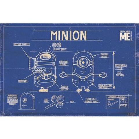 Despicable Me Minion Blue Print - 24 x 36 Inches Maxi Poster