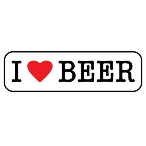 I Love Beer - 12 x 36 Inches Midi Poster