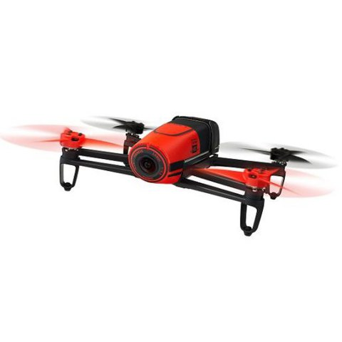 Parrot Bebop Drone (Embedded GPS, 14MP Camera, 1080p HD Camcorder, 8GB Flash Storage) - Red