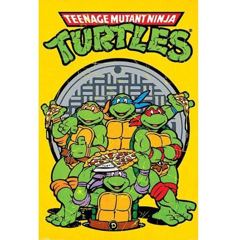 Teenage Mutant Ninja Turtles Retro - 24 x 36 Inches Maxi Poster
