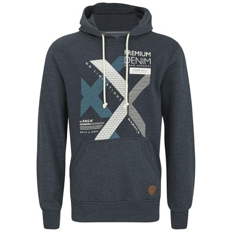 Smith & Jones Men's Kingsnorth Hoody - Navy Marl