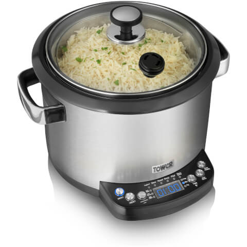 Tower T16001 Digital Multi Cooker - Stainless Steel - 5L