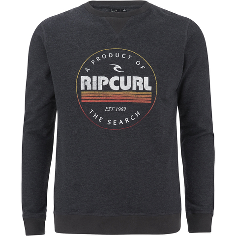 Rip Curl Men's Big Mama Circle Crew Neck Sweatshirt - Black