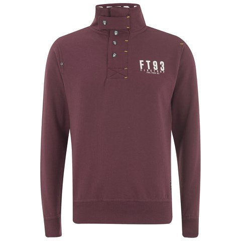 Firetrap Men's Acland Funnel Neck Sweatshirt - Burgundy