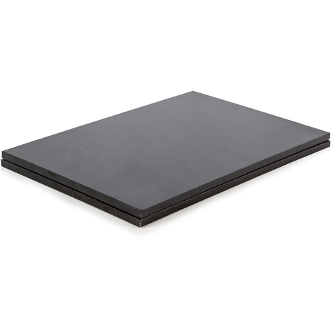 Natural Life NLGR003 Set of 2 Rectangular Placemats - Black