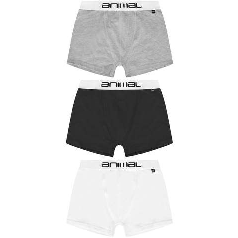 Animal Men's Asta 3-Pack Boxers - Black/White/Grey