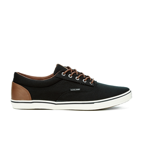 Jack & Jones Men's Vision Mix Canvas Pumps - Anthracite