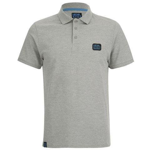 Henleys Men's Loaf Logo Collar Polo Shirt - Athletic Grey Marl