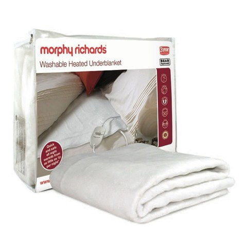 Morphy Richards 75183 Heated Blanket - White - Single
