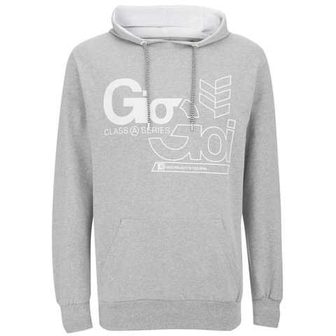 Gio Goi Men's Decker Hoody - Grey Marl