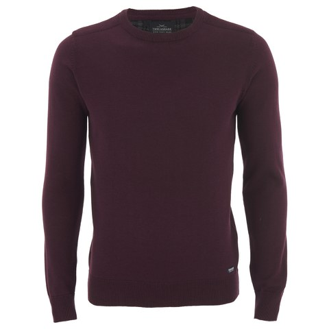 Threadbare Men's Beijing Cotton Crew Neck Jumper - Burgundy
