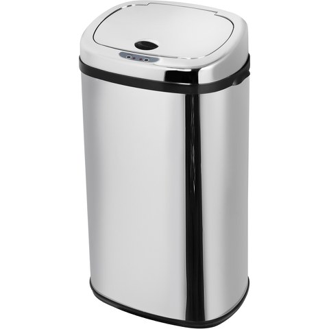 Morphy Richards 971504/MO Square Sensor Bin - Stainless Steel - 42L