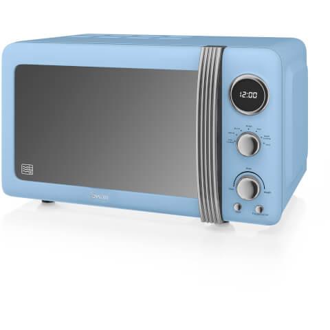 Swan SM22030BLN Digital Microwave - Blue - 800W