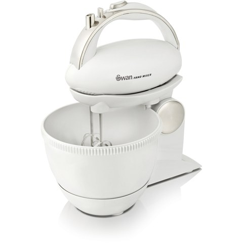 Swan SP10070N 5 Speed Hand Mixer and Bowl - White
