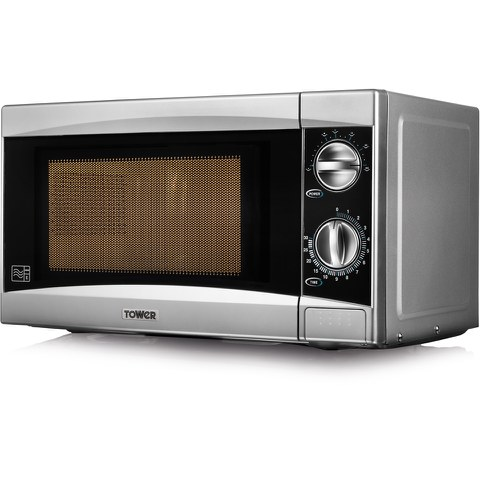 Tower T24001 800W Manual Microwave - Silver
