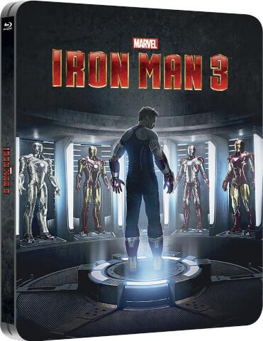 Iron Man 3 (Edición de Reino Unido) - Steelbook Exclusivo en Zavvi - Edición Lenticular