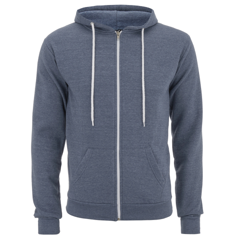 Soul Star Men's Berkley Zip Through Hoody - Airforce Melange