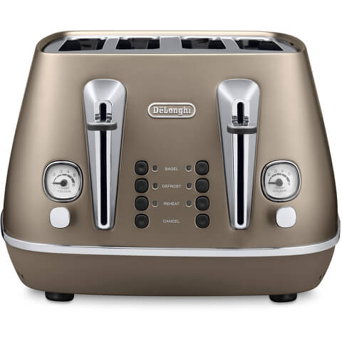 De'Longhi CTI4003.BZ Distinta 4 Slice Toaster - Bronze Finish
