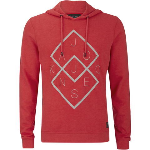 Jack & Jones Men's Core Fat Hoody - Chinese Red
