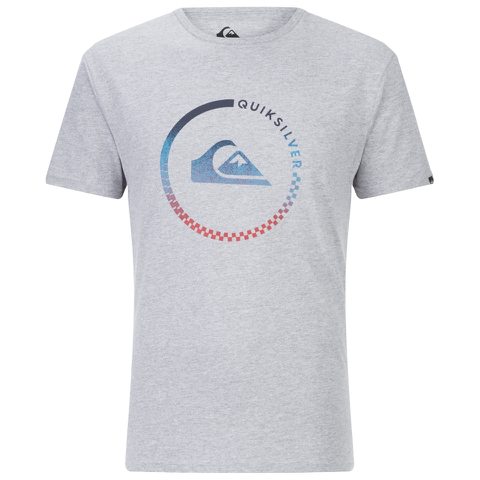 Quiksilver Men's Classic Active Check T-Shirt - Athletic Heather