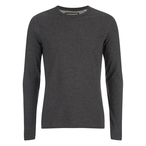 Brave Soul Men's Prague Long Sleeved Top - Charcoal