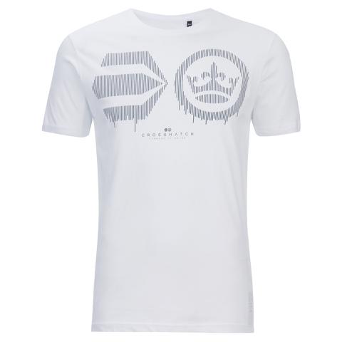 Crosshatch Herren Baseline T-Shirt - White