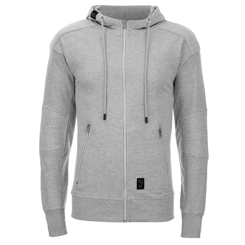 Crosshatch Men's Gixer Zip Through Hoody - Grey Marl