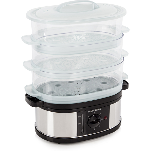 Morphy Richards 48755 3 Tier Steamer - Metallic