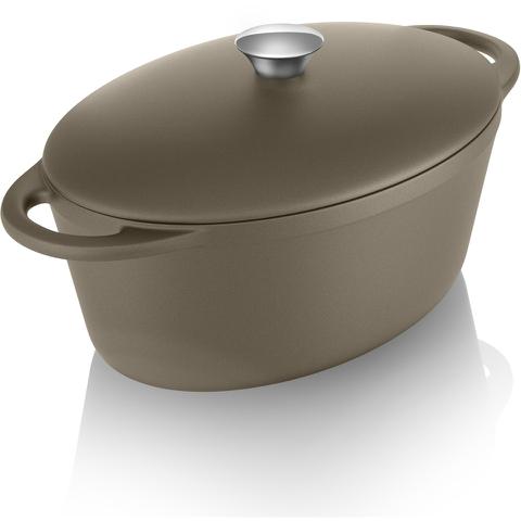 Tower IDT90004 Cast Iron Oval Casserole Dish - Latte - 29cm
