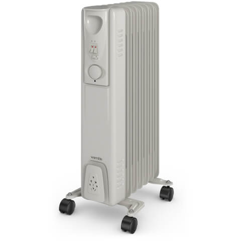 Warmlite WL43003Y Oil Filled Radiator - White - 1500W