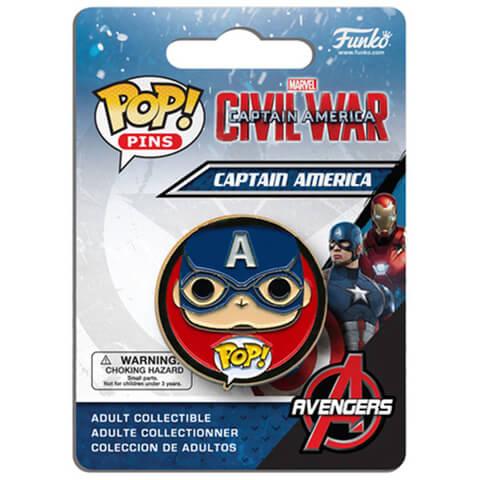 Captain America: Civil War Captain America Pop! Pin