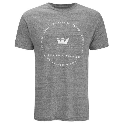 Supra Men's Sphere Print T-Shirt - Grey Heather