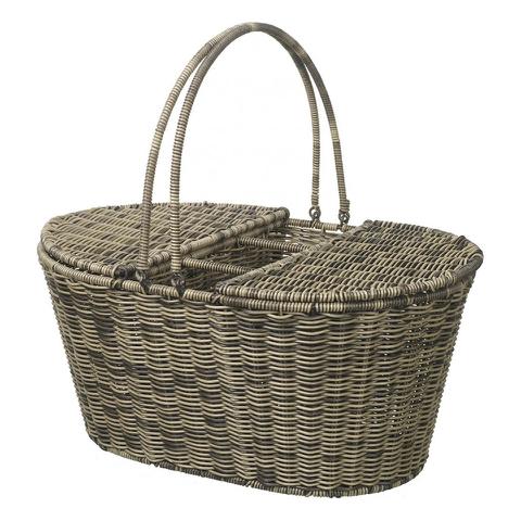 Parlane Rattan Picnic Basket - Brown